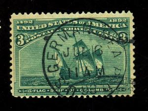 232 UseD Fine German Seaport cancel