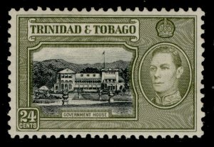 TRINIDAD & TOBAGO GVI SG253, 24c black & olive-green, M MINT.