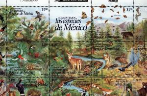 Mexico Scott 1995  Las Especies de Mexico Mint NH Sheet of 25