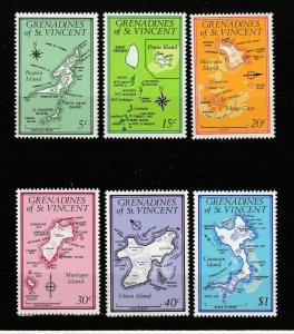 St Vincent Grenadines 1974 complete set Fine MNH** Islands Geography Maps A5552