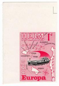 (I.B-CK) Cinderella Collection : Herm Island 1d (Europe 1963) printer's proof