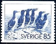 Razor-billed Auks & Black Guillemot, Sweden SC#1153 mint