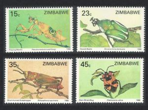 Zimbabwe Insects 4v SG#724-727
