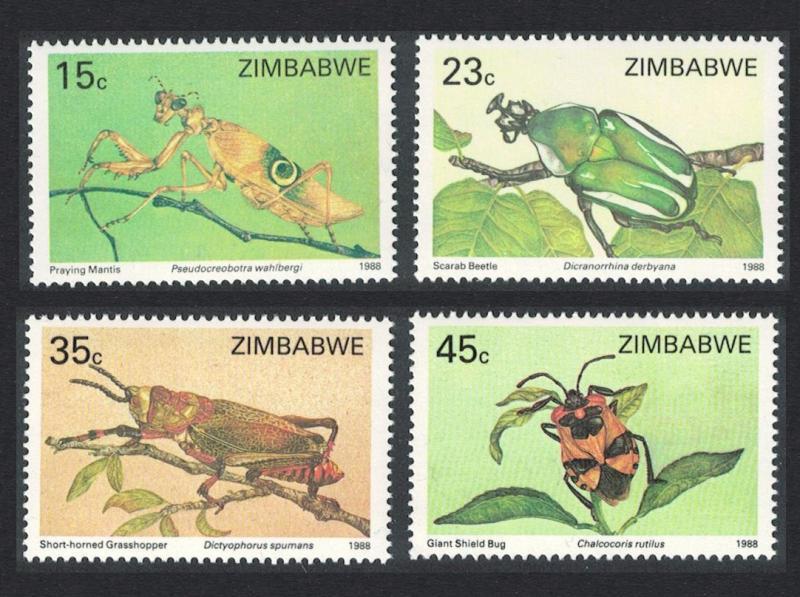 Zimbabwe Insects 4v SG#724-727