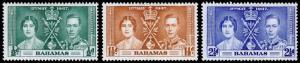 Bahamas Scott 97-99 (1937) Mint LH VF Complete Set M