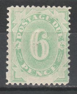 AUSTRALIA 1902 POSTAGE DUE 6D BLANK BASE WMK UPRIGHT