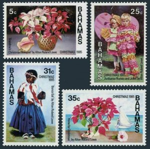 Bahamas 588-591,591a,MNH.Michel 602-605,Bl.47. Paintings by Alton Roland Lowe.