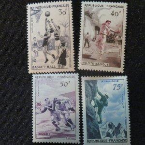 France 801-804  VF, OG. NH. Cv. $15.60