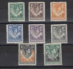 Northern Rhodesia KGVI 1938 Set To 2s 6d MH JK418