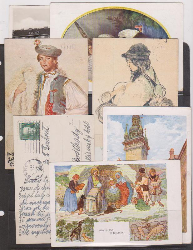 Czechoslovakia - Seven Diff. Postcards 1930-1935 BRNO Cancels