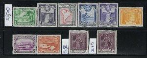 BRITISH GUIANA SCOTT #230-241 1938-52 (PERFORATION 14X13-12 1/2X13)  MINT LH