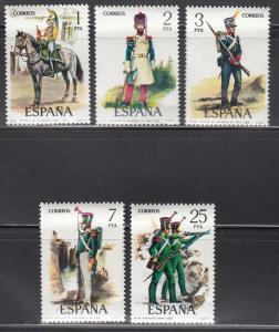 Spain, Sc # 1989-1993, MNH, 1976, Uniform Types
