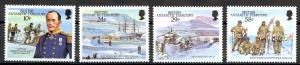 British Antarctic Territory Sc# 137-140 MNH 1987 Capt. Robert Falcon Scott