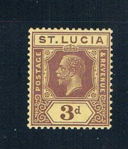St Lucia 84 MLH George V 1921 (S0928)