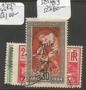 Syria French Occupation 1924 Olympics SC 166-8 VFU (8crq)