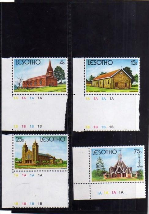 LESOTHO 1980  CHRISTMAS CHURCHES CHURCH NATALE CHIESE NOEL WEIHNACHTEN NAVIDA...