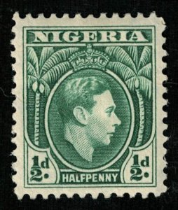 1938-1951, King George VI, Nigeria, 1/2d, YT #52 (RT-379)