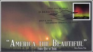 18-184, 2018, O' Beautiful, First Day Cover, Pictorial Postmark, Northern Lights