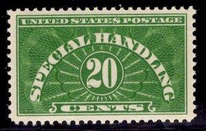 US Stamp #QE3 20c Green Special Handling MINT NH SCV $7.75