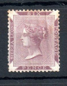 Sierra Leone 1874 6d mint MH SG#4 dull lilac WS14590