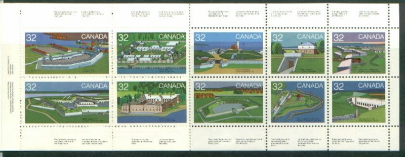 CANADIAN BOOLKLET ON 1983 FORTS STAMPS MNH LOT#40