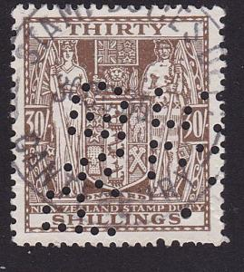 NEW ZEALAND ARMS TYPE STAMP DUTY 30/- used..................................7755