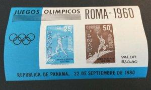 Panama Sc# C237a MNH (mint Never Hinged) Rome 1960 Olympics Sheet