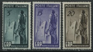 Italy ERP set of 3 unmounted mint NH