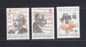 Belgium 1041-1043 Set MNH Music