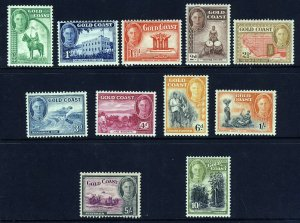 GOLD COAST King George VI 1948 Pictorial Part Set to 10/- SG 135 to SG 146 MINT