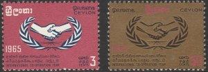 Ceylon, #386-387  MH From 1965