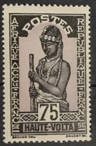 Upper Volta #56 MLH F-VF CV$2.40 Hausa Woman
