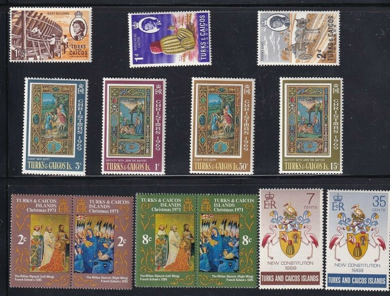 UK STAMP Turks And Caicos Islands stamp MNH STAMP COLLECTION LOT
