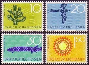 Liechtenstein Birds Fish Trees 4v SG#453-456 MI#460-463