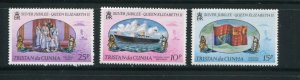 Tristan da Cunha MNH 213-5 Silver Jubilee QE II