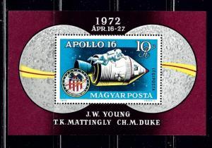 Hungary C326 MNH 1972 Apollo 16 S/S