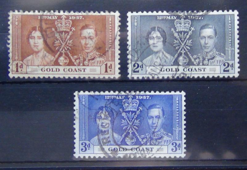 Gold Coast 1937 Coronation set Fine Used
