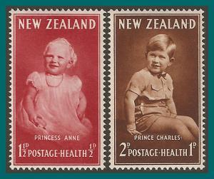 New Zealand 1952 Health, Royal Children, MNH B40-B41,SG710-SG711