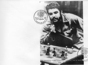 Turkmenistan 1997 Che Guevara play Chess SS(1) Imperf. YT Block 7 FDC