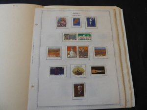 Canada 1980-1990 Stamp Collection on Album Pages
