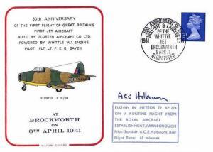GB FIRST RAF JET ENGINE Brockworth 1941 Meteor 1971 SIGNED FLIGHT COVER BD94