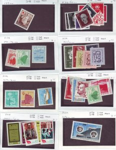 Z638 JL stamps germany DDR mnh with sets on sales cards, been checked & sound