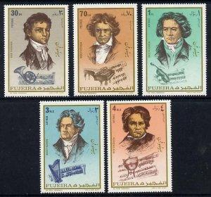 Fujeira MNH MI 732-6a Composer Beethoven 1971