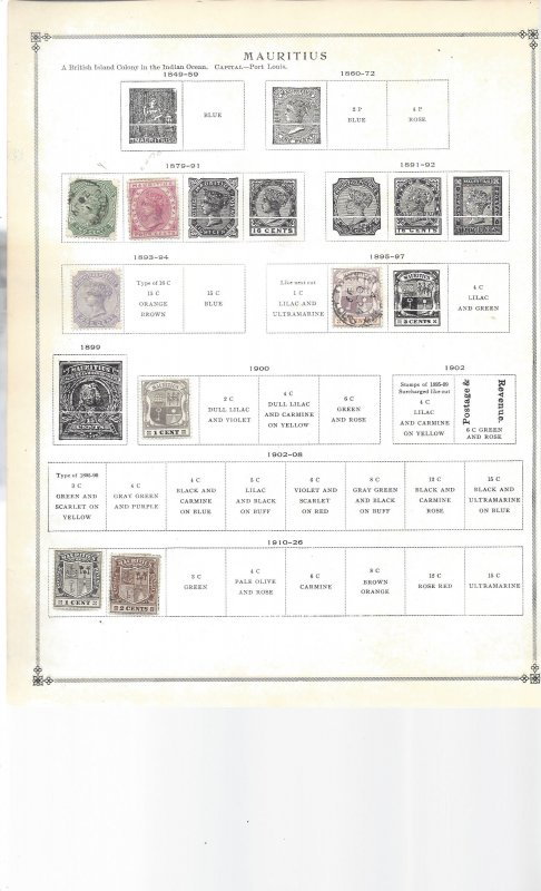 Mauritius old Old Album Sheet - Starts in 1879 - So Nice!!!