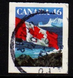 Canada - #1698 Flag over Icebergs  - Used