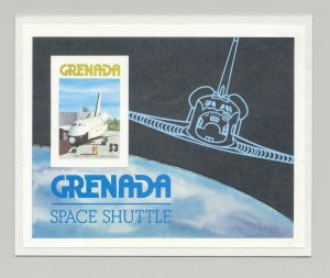 Grenada #848 Space Shuttle 1v S/S Imperf Proof Mounted on Card