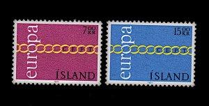 ICELAND 429-430 MNH