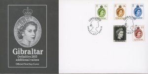 Gibraltar 1508-13 FDC cover QEII definitive (2110 160)