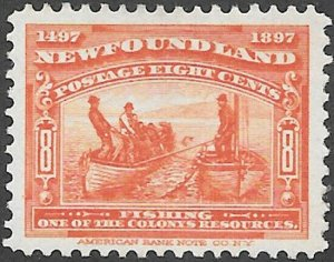 Newfoundland Scott Number 67 VF H