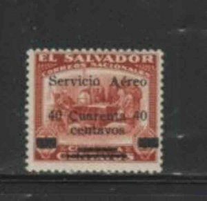 SALVADOR. EL #C5 1929 40c ON 50c SURCHARGED MINT VF NH O.G